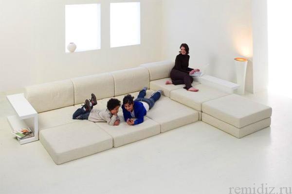 диван с полкой